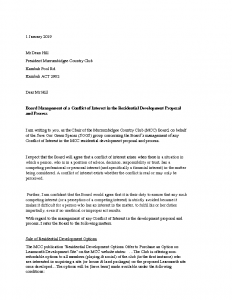 SOGS Letter to MCC Board re- Conflict of Interest 2019
