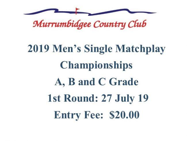 Men's Single Matchplay
